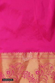 Pink Kanchipuram Silk Saree with Zari brocade on body and Zari border. Silk Saree Kanchipuram, Silk Sarees, Patiala Salwar, Silk Crepe, Cotton Saree, Silk Fabric, Weaving, Pure Products, Blouse