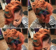 Best Ideas For Short Haircuts : Dope color combo by – blackhairinformat… 27 Piece Hairstyles, Curly Pixie Hairstyles, Dope Hairstyles, Cute Hairstyles For Short Hair, Curly Hair Styles, Natural Hair Styles, Black Hairstyles, Woman Hairstyles, Men's Hairstyle