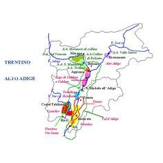Mappa dei vini del Trentino   #TuscanyAgriturismoGiratola