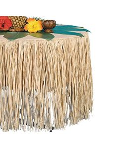 Natural Paper Raffia Table Skirt 9ft Party City 14 99