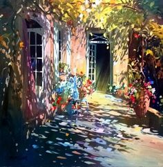 Biography and images of artist Laurent Parcelier, featured at the East West Fine Art gallery in Naples, Florida. Impressionist Paintings, Watercolor Paintings, Dappled Light, Painting Competition, Modern Impressionism, Art Themes, Street Artists, Fine Art Gallery, Beautiful Paintings