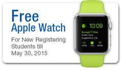 The Apple Watch is almost here! Do you want your own? From now until May 30, new registering students are eligible to win a free Apple Watch simply by registering for a full online traffic school course. If you've got a ticket and need to fulfill traffic school requirements, this deal can't be beat. Our course is only $19.99, comes with free electronic reporting and you might even win a free Apple Watch with it! Register today at www.trafficschooldiy.com
