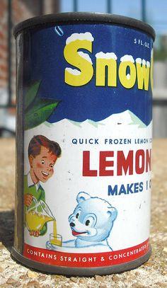 Old Snow Crop Lemonade Concentrate Tin Can by gregg_koenig, via Flickr