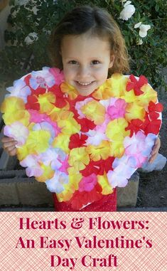 An easy Valentine's Day craft using stuff you might have lying around.