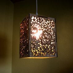 how to make a hanging lamp out of anything