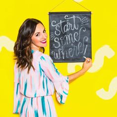 Start somewhere! Practice your chalk lettering skills with this Brit + Co DIY Kit, available exclusively at Target.  http://go.brit.co/2oPEW3x