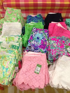 Lilly Pulitzer summer shorts. One of each please!