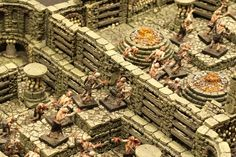 The sheer textural win of this @dwarvenforge setup really has me pining for a set as well as wanting to procure some ceramic dice http://kck.st/10QVXLr to complete the earthen material theme.
