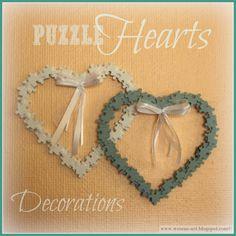Puzzle Hearts decorations