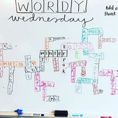 wordy wednesday. #misskgriffin