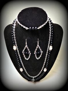The Banker's Necklace Set by Blackcraftstudios on Etsy, $30.00