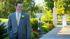 Love the first look shot.  #firstlook #ldsbride #mesaaztemple #templeweddings #mormonweddings