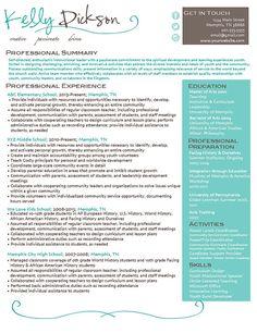 Elegant Resume | Resume templates, Resume and Templates