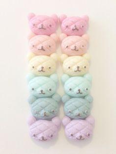 Fairy kei pastel rainbow dessert bear *o* Rainbow Desserts, Cute Desserts, Rainbow Aesthetic, Pink Aesthetic, Soft Colors, Pastel Colors, Soft Pastels, Pastel Party, Pastel Palette