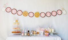 Yummy Cookies & Milk baby shower by http://pinwheellane.etsy.com