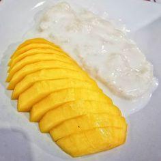 Love me some sweet #Mango and Sticky #Rice  -- #Fruit #CoconutMilk #Dessert #Thai #Food #Foodie #Instafood #FoodPorn #Foodstagram #BangkokGarden #Hackensack #NewJersey #NJ #Restaurants #JerseyEats #Eeeeeats #FoodPics #FoodBlogger #FoodBlog #DesiredTastes
