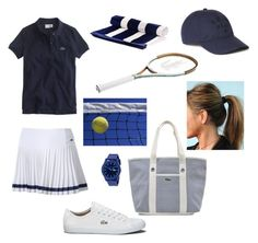 """""""Lacoste tennis"""" by camillezem ❤ liked on Polyvore featuring beauty, Lacoste and J.Crew"""