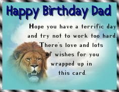 Perfect card for dad's birthday with a sweet verse. Free online Birthday Wishes For Dad ecards on Birthday Birthday Hug, Birthday Wishes Funny, Birthday Songs, Very Happy Birthday, Group Of Cats, Happy Panda, Colorful Birthday, Cute Teddy Bears, Wishes For You