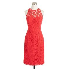 J.Crew Pamela Dress in Leavers Lace Poppy shift dress, zipper and button closure in back. Worn once J. Crew Dresses Mini