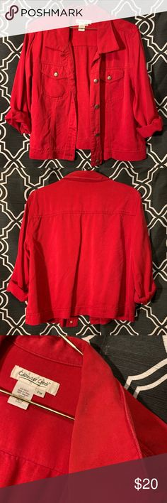 32406ffc223b6 Coldwater Creek Jacket Red jacket. Very good condition. Just a little  discoloration around the