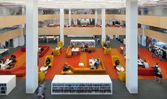 The Wentworth Institute Library required an acoustic solution that could be installed directly to its concrete ceiling and walls. SoundPly's Latus Acoustic Wall Panels and Alta Acoustic Ceiling Panels were the only viable solution. Architect: Perkins & Will Installers: American Contractors Corps. Wood Ceiling Panels, Acoustic Ceiling Panels, Concrete Ceiling, Wood Ceilings, Wentworth Institute Of Technology, Showcase Design, Architecture Design, Learning, Solution Architect