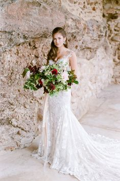 Lush Bouquet | Elegant Bridal Ideas With A Gorgeous Galia Lahav Wedding Dress By Tamara Gruner Photography