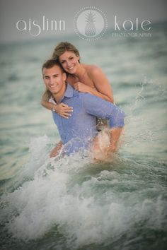 pensacola beach engagement portrait