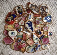 Creating Your Own Broken China Jewelry Instruction Book (.pdf)     - Make Your Own Broken China Jewelry. $9.95, via Etsy.