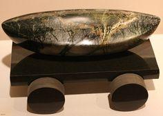"""Allegory"" Brucite on a Basalt base by Verena Schwippert Seattle Art, Stone Sculpture, Decorative Bowls, Glass Art, Art Gallery, Base, Painting, Art Museum, Painting Art"
