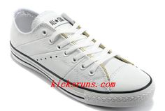 f90076928a5ced White Leather Converse By John Varvatos Double Zipper Oxford Winter Chuck  Taylor All Star Low Tops Sneakers