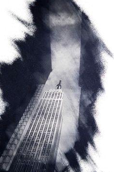 AR001_003. Building renovation  Art photo New York. Empire State Building. Performance fotografica di stampa manuale in fase di esecuzione. Ripresa su pellicola 35mm eseguita nel 1990, stampa eseguita oggi con tecnica resino-pigmentype in edizione limitata di 9 copie. Formato 56×75 cm. La stampa include nella LE Strip (Limited Edition Strip © M.P.G.) il certificato di autenticità della foto. I dati presenti sono il titolo dell'opera, la tiratura complessiva delle stampe (incl