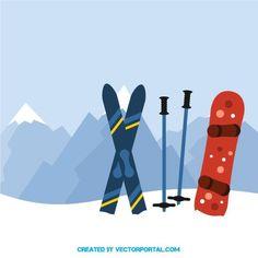 Snowboard and ski vector image Wallpaper Cross, Cute Wallpaper Backgrounds, Cute Wallpapers, Ski Lodge Decor, Nail Design Spring, Ski Equipment, Ski Posters, Snow Skiing, Sports Art
