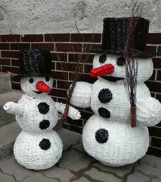 snehuliaci, Papierové pletenie | Artmama.sk