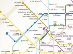 Le plan de Metro des Burgers de Paris