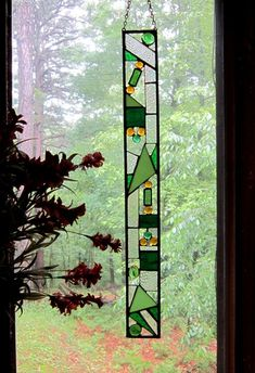 Beautiful Stained Glass Panel gift Glass Art Suncatcher the perfect addition to ones home art glass