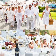 White Party Attire, All White Party, Picnic Dinner, Pop Up Dinner, White Party Decorations, Brunch, Dinner Themes, 50th Party, Le Diner