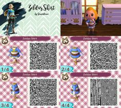 animal crossing new leaf qr code the legend of zelda breath of the wild princess zeldas shirt crossover acnl by sturmloewe