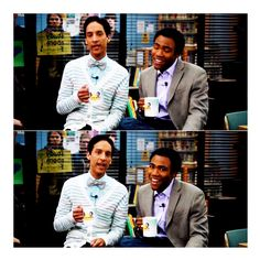 Troy and Abed in the Morning- Community (hehehe)