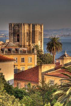 Lisbon, Freguesia da Sé, Portugal -  View from terraço do na Calçada do Marquês de Tancos.