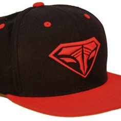 Iconic SnapBack Hat – Black and Red