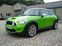Lime green Cooper Mini