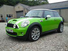 Lime green Cooper Mini