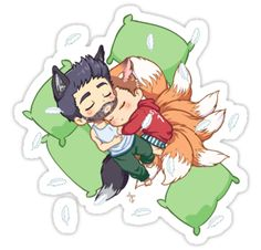 Sleepy!Sterek sticker http://www.redbubble.com/people/mgnemesi/works/12412481-sleepy-sterek?c=332999-chibi-wolves