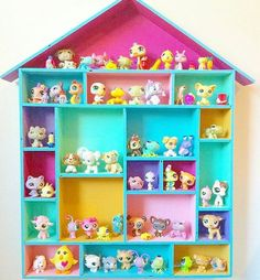 42 Best Ideas For Kids Room Organization Ideas Organizing Toys Diy Crafts Littlest Pet Shops, House Shelves, Kids Room Organization, Organizing Toys, Diy And Crafts, Crafts For Kids, Toy Rooms, Little Pets, Little Girl Rooms