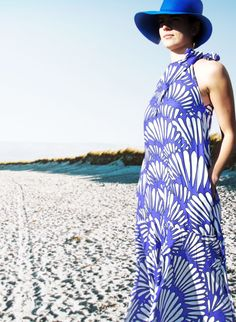 Afternoon on the beach wearing our soft viscosa Guilin dress.