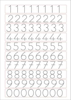 Trace the Dotted Lines Worksheets for Kids - Preschool and Kindergarten Preschool Writing, Numbers Preschool, Preschool Learning Activities, Preschool Activities, Learning Numbers, Printable Preschool Worksheets, Kindergarten Math Worksheets, Free Printable, Printable Shapes