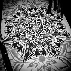 Fresh Mandala Illustration By Otheser! #mandala #design #geometry #geometrical #dotwork #blackwork