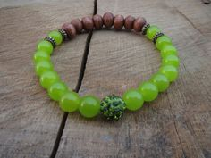 EASTER Spring Green Bracelet Nature Themed by BohemianChicbead