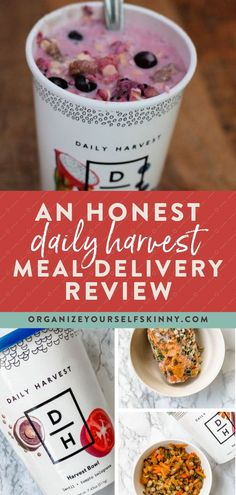 An Honest Daily Harvest Meal Delivery Review | Healthy Dinner Recipes - Wondering if Daily Harvest is healthy? Is it worth the cost? Is it a good fit for my busy lifestyle? Learn everything you need to know about this meal delivery service in my honest review. Organize Yourself Skinny | Meal Prep for Beginners | Meal Planning | Healthy Eating Tips | Healthy Eating Recipes | Healthy Meals for Weight Loss Quick Easy Healthy Meals, Healthy Freezer Meals, Healthy Eating Habits, Healthy Meals For Two, Healthy Eating Recipes, Healthy Meal Prep, Healthy Cooking, Cooking Tips, Healthy Living