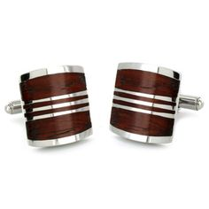@Overstock - These handsome art-deco stainless steel cufflinks with red wood inlay are perfect for any stylish man in a dress shirt. This sophisticated classical mens accessory features polished stainless steel that resists scuffing and scratching.http://www.overstock.com/Jewelry-Watches/Stainless-Steel-Red-Wood-Inlay-Art-Deco-Cuff-Links/4741636/product.html?CID=214117 $24.49